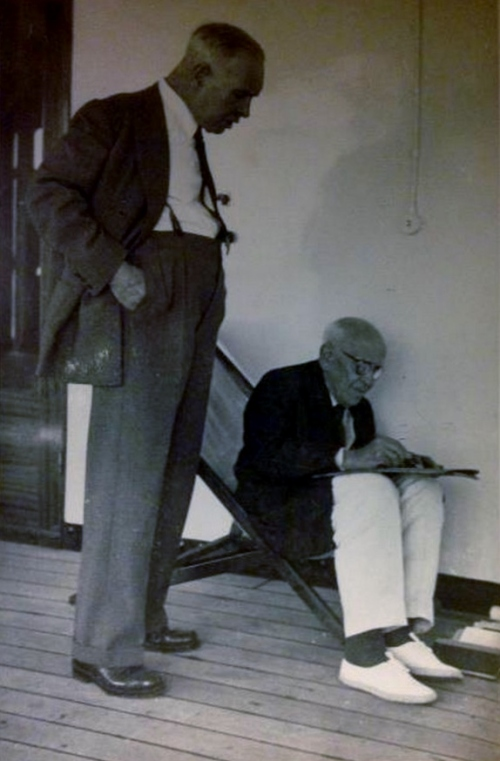 Gago Coutinho and Aquilino Ribeiro in 1952