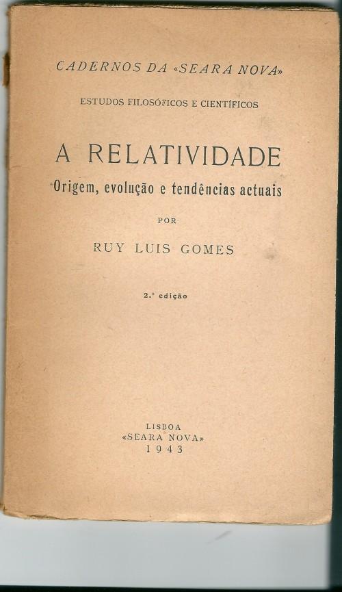 Controvércia com Gago Coutinho sobre a Relatividade