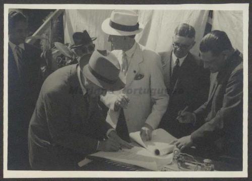 Comissão de Extinção das Instalações do Almirante Tenreiro. Fotos de Inaugurações, banquetes e cerimónias diversas